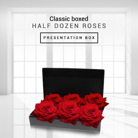 Image of Classic Boxed Half Dozen Roses